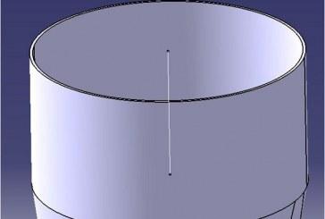 کتیا: ایجاد خط محور در مرکز استوانه
